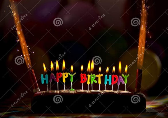 happy birthday candles cake image download
