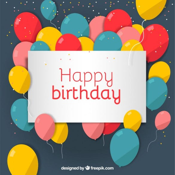 simple happy birthday image free download