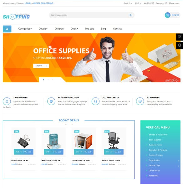 shoping office prestashop theme 68
