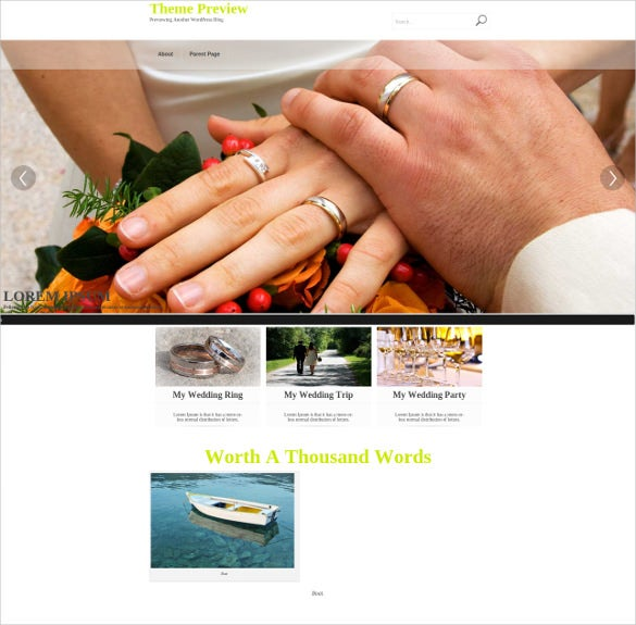 elegant wedding wordpress theme1