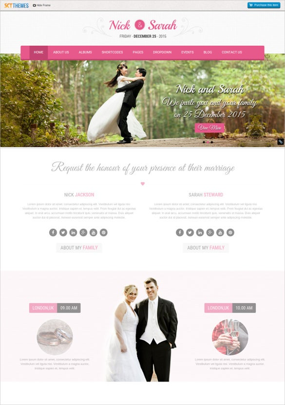 wedding ceremony wordpress theme