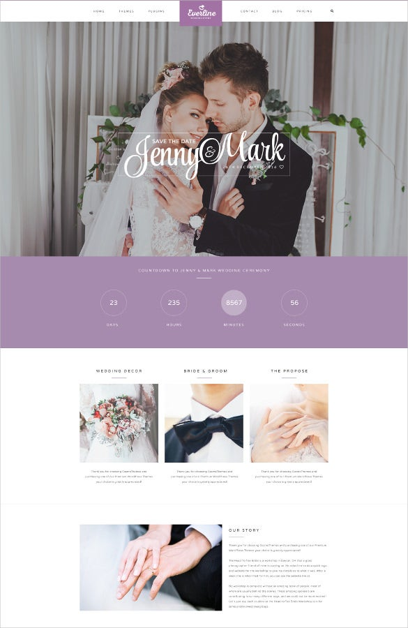 everline wedding eventwordpress theme