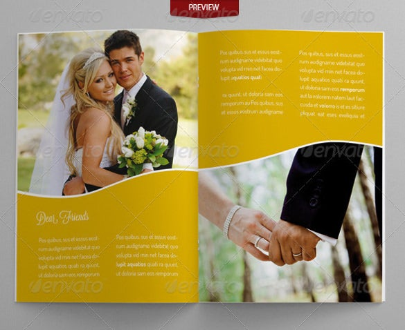 elegant wedding brochure template for download