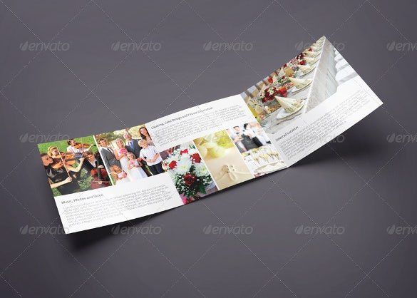 tri fold wedding brochure template for download