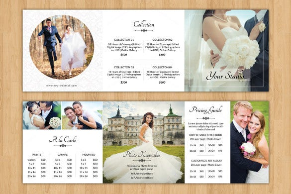 wedding brochure template for easy download