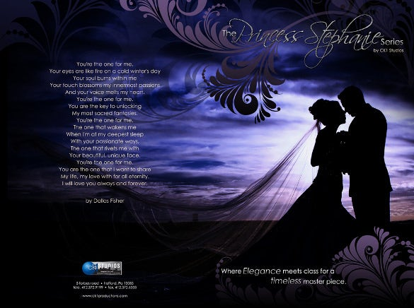 couple theme wedding brochure template for download