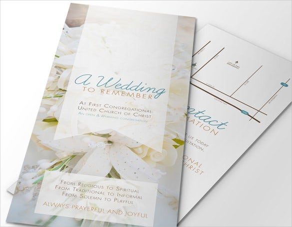 christian wedding brochure template for download