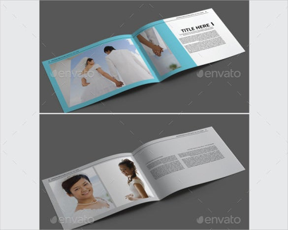 simple wedding brochure template for download