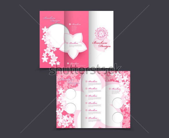 pink color wedding brochure template for download