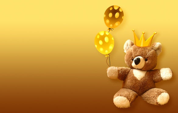 teddy bear birthday image free download