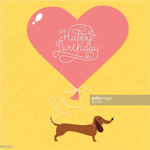 cartoon dog birthday image download