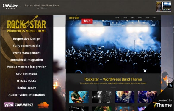 respoansive music wordpress theme