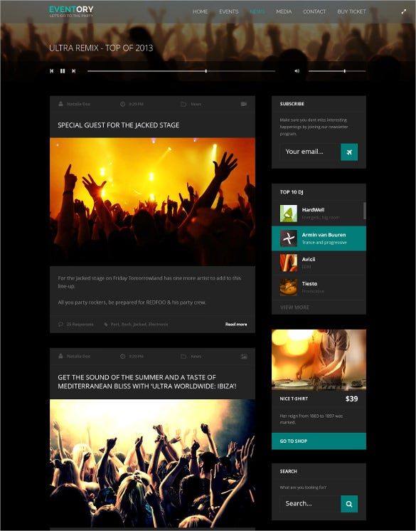 event music wordpress theme