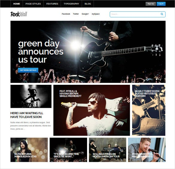 rockwall music wordpress theme