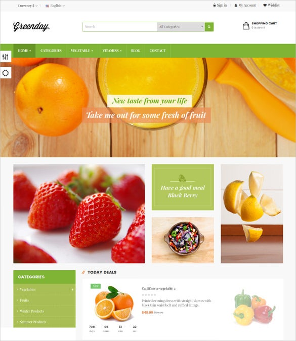 green fruits prestashop theme