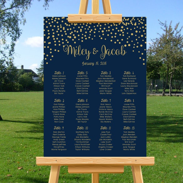 easy to download wedding chart template download1