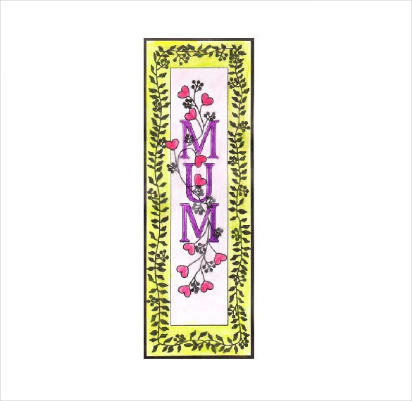 mothers day bookmark template
