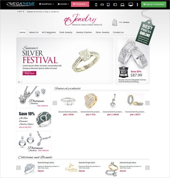jewelry online store prestashop theme