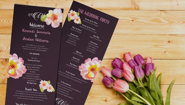 weddingprogramtemplate