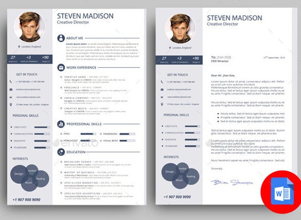 typographic strpucture cover letter word template