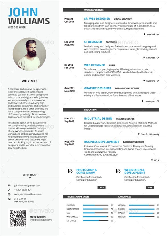 sample resume cover letter examples template for creative design word