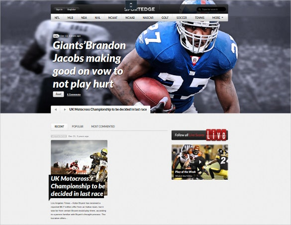 sport edge magazine wordpress theme