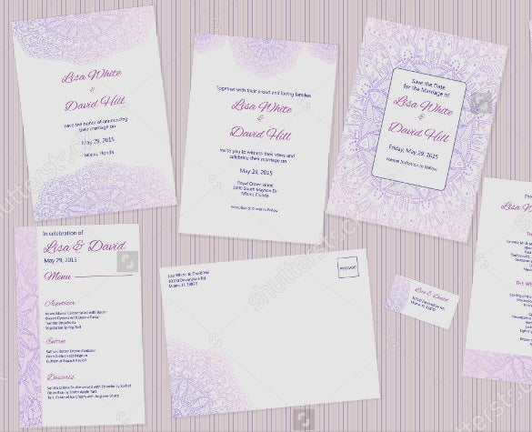 editable wedding program template for download