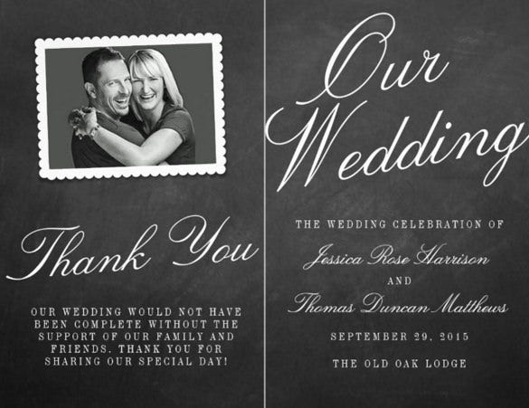 dark background wedding program template for download