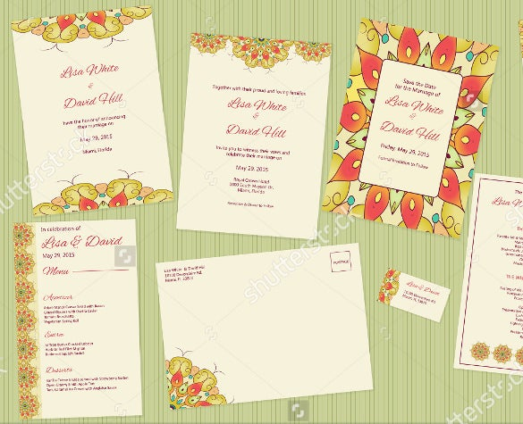 complete wedding program set for download