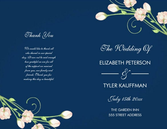 attractive wedding program template for download