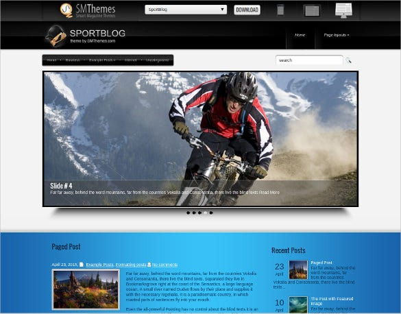 sports blog wordpress template
