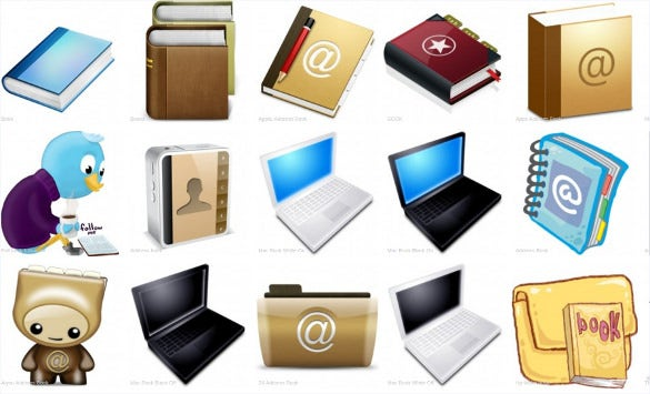 70 book icons for free download