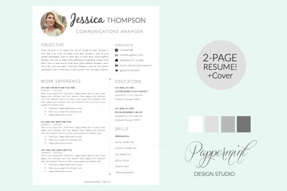 classic color palette word cover letter1