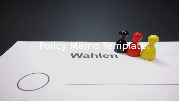 policy memo template
