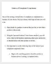 Formal Letter of Complaint Document Template1
