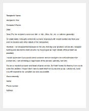 Sample Complaint Letter Template1