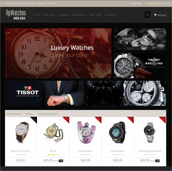 watches prestashop theme 69
