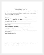 Employee Concer and Complaint Form 1