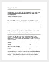 Employee Harrasment Complaint Form Template1