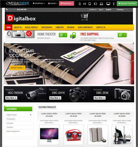 digitalbox prestashop hitech theme