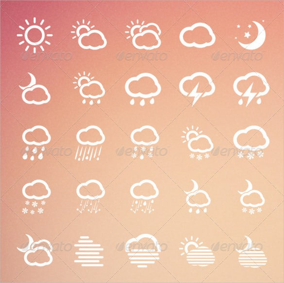 55 weather icons set download