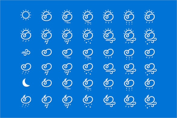 weather vector icon set download
