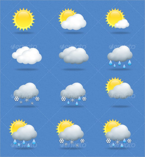 set of 15 weather icons download