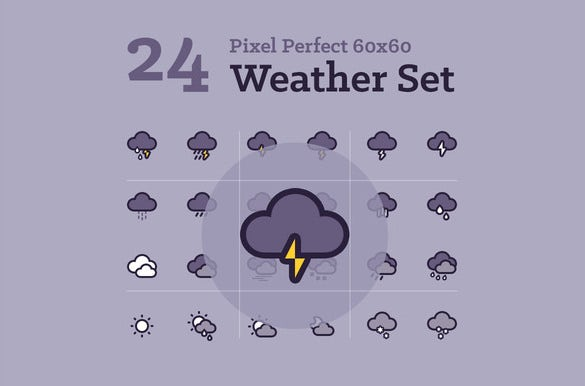 hand crafted weather icon set download