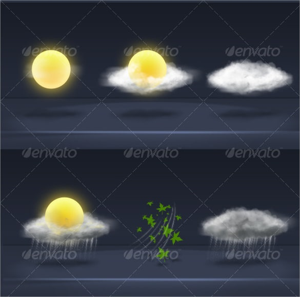 realistic weather icon download