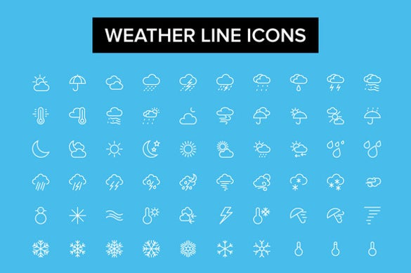 weather line icon set download