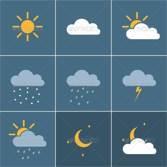 weather icon illustration download