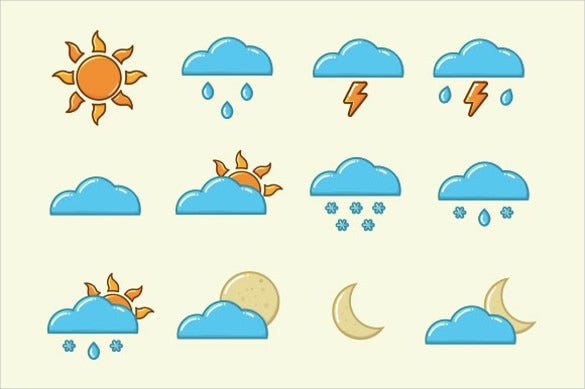 vector weather icon set download