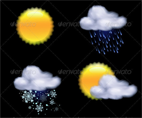 forecast weather icon design download