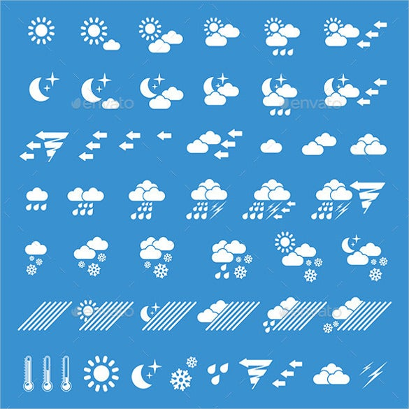 flat weather icons download